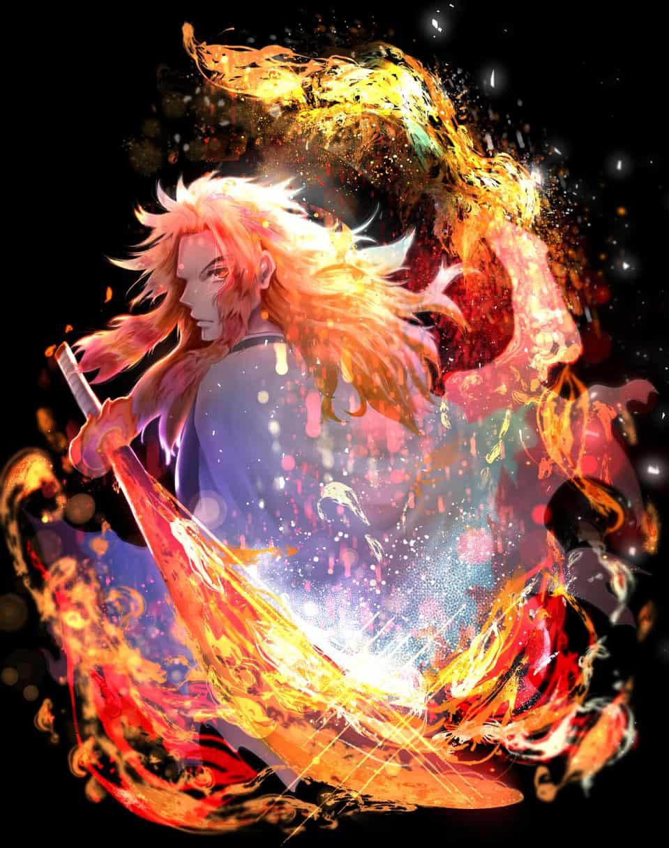 煉獄の炎 Illust of qui DemonSlayerFanartContest KimetsunoYaiba RengokuKyoujurou
