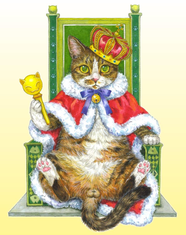 ネコの王様 Illust of Rumi August2021_Animal