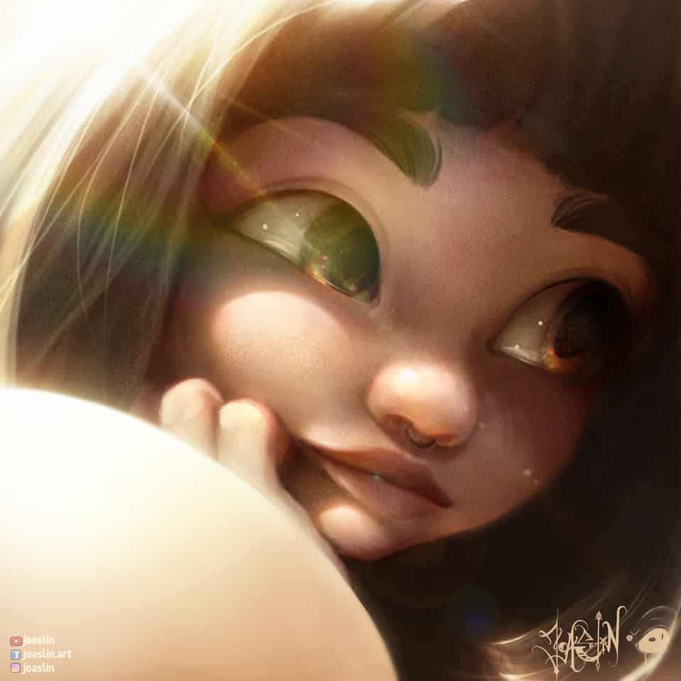 Bored  Illust of JoAsLiN ARTstreet_Ranking illustration bored painting oc manga original girl eyes digital cute