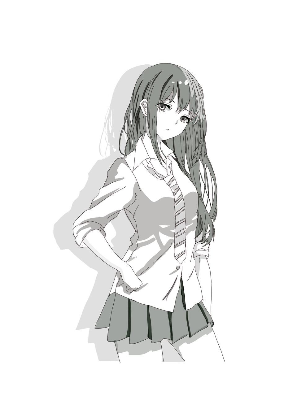 YO Illust of Melody medibangpaint fanart animegirl anime animeschoolgirl