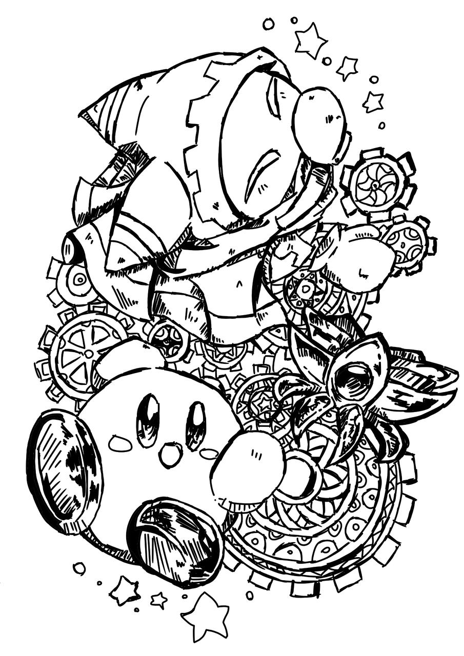 흑배애액 Illust of 별페니 character Kirby