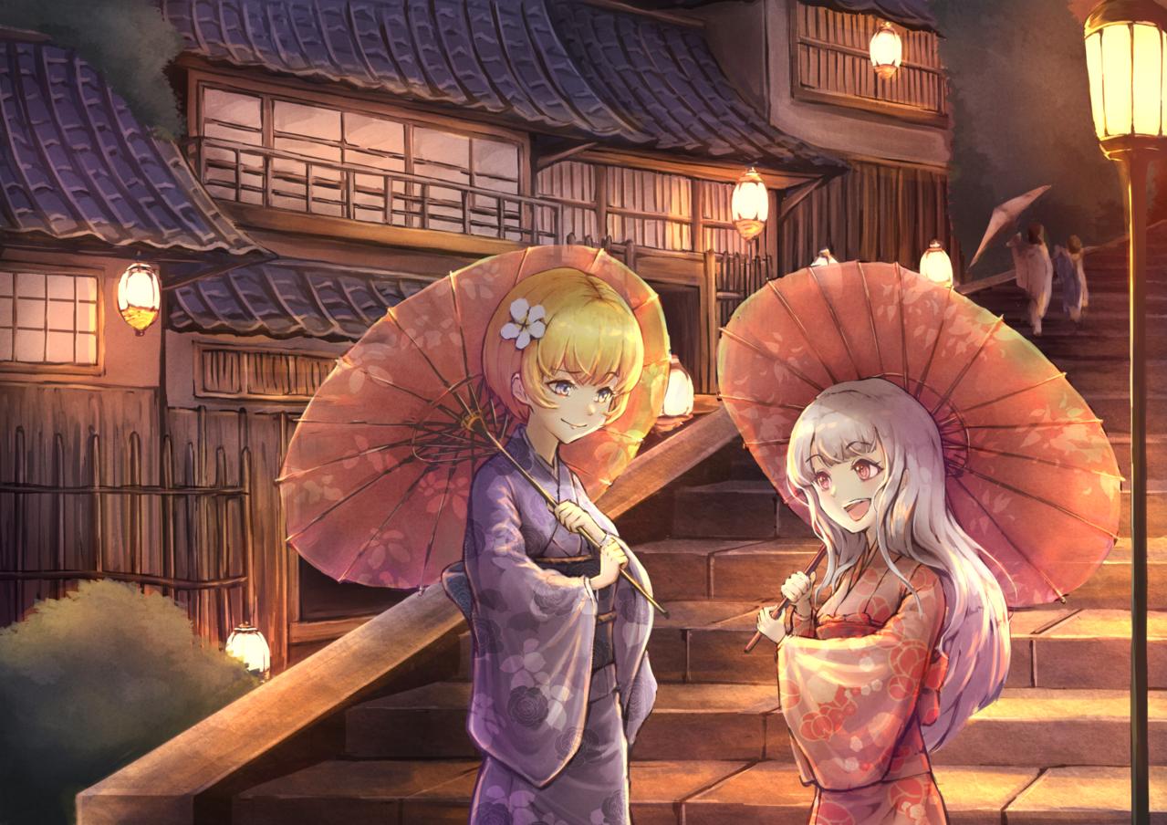 三年坂上的友誼 Illust of 優格配炒蛋 Kyoto_Award2021[illustration] 京都 girl 三年坂 雙人 original