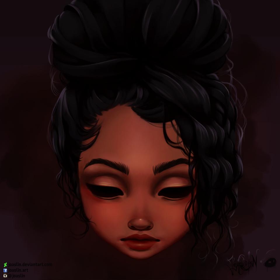 Messy Bun➰ Illust of JoAsLiN ARTstreet_Ranking original messyhair girl eyes digital cute illustration hair oc dark