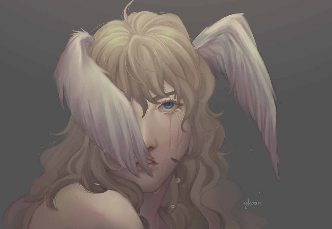 Fallen Angel Illust of @gkoarc illustration iPad_raffle fanart potrait MediBangPaintPro anime drawing ryoasuka Devilman medibangpaint