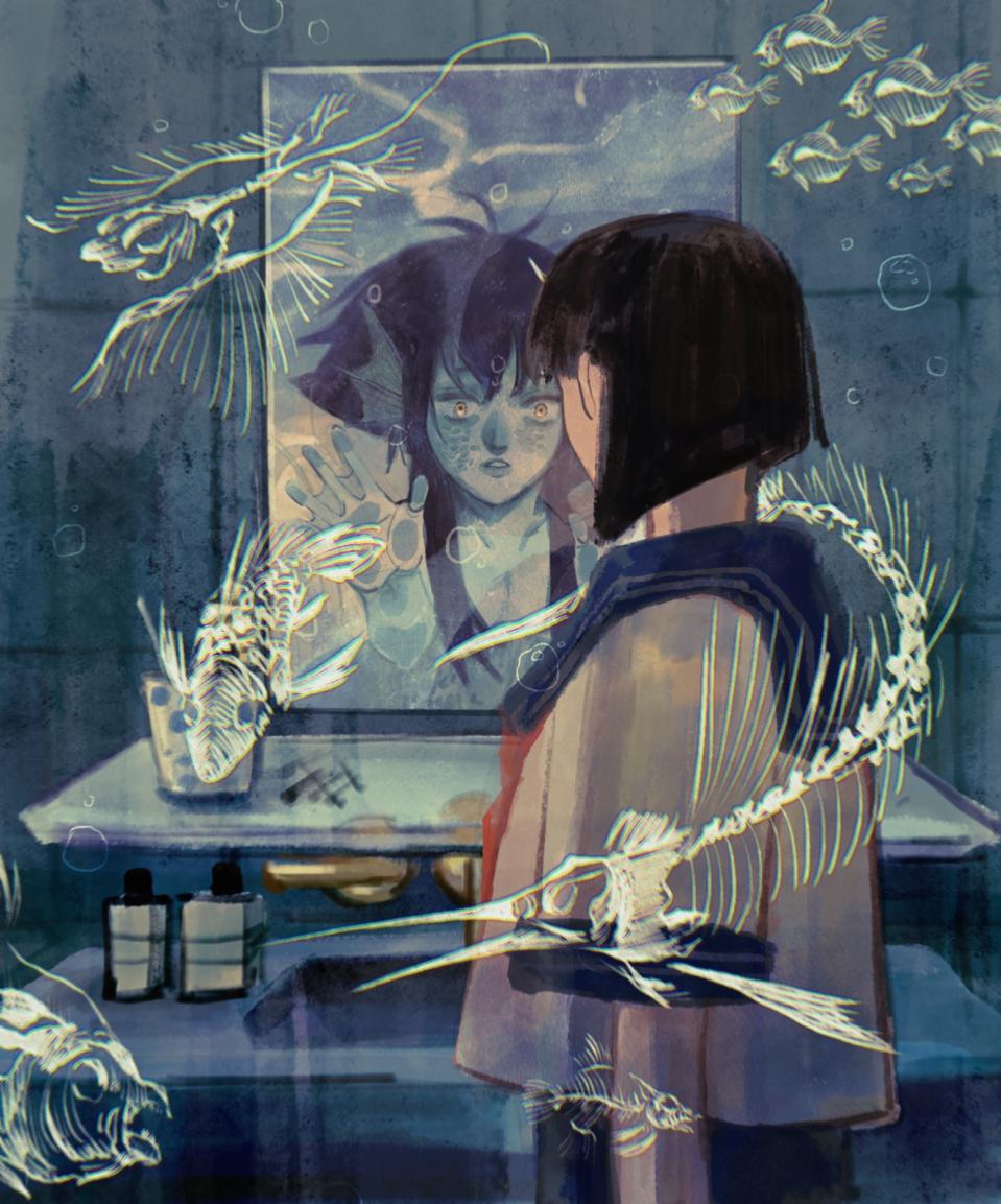 海怪 Illust of 伊達唯 February2021_Fantasy girl 魚標本 sea
