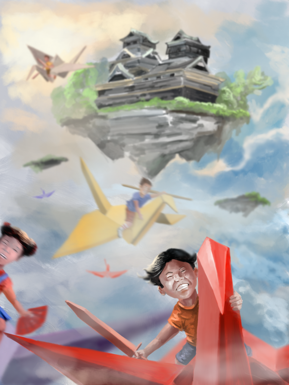 """Flight of the Origamis"" SMA-EX3-KUMAMOTO"