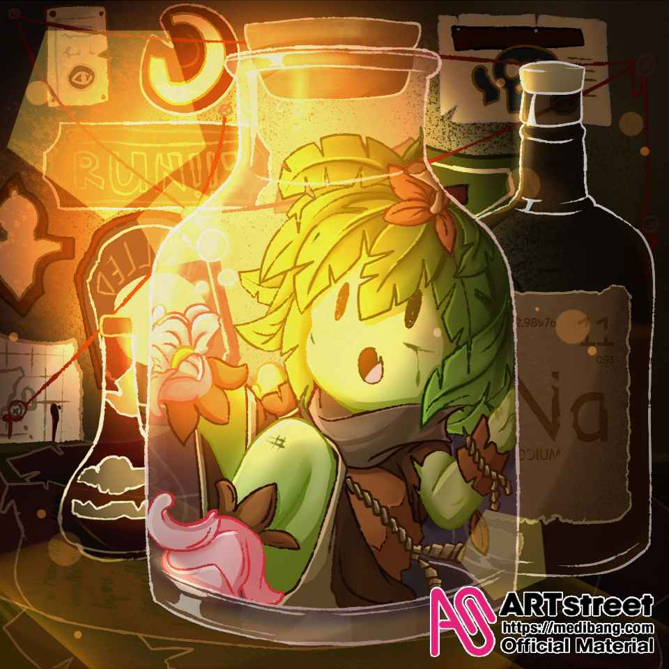 Bottled Nature Illust of GrimSilverse tracedrawing Trace&Draw【Official】 AAAA