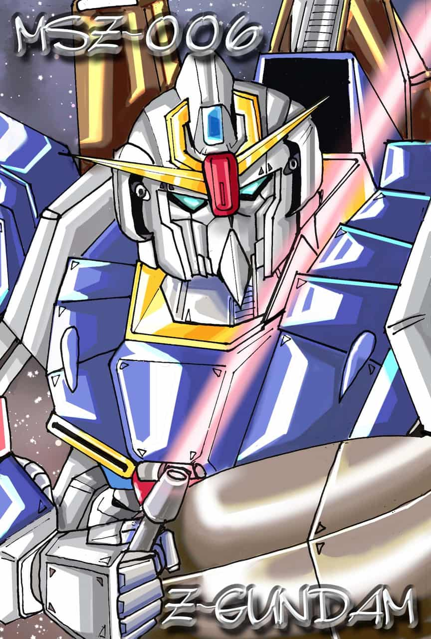 Z-GUNDAM 2020 Illust of おち☆よしかず(Occhiiy:オッチー☆) モビルスーツ メカ iPad_raffle 機動戦士Zガンダム Zガンダム CG メカニックイラスト GUNDAM