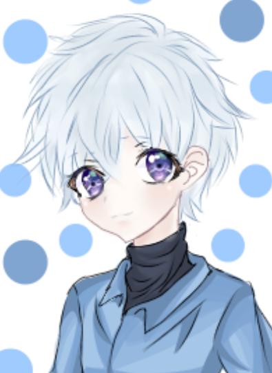 Boy with white hair.  Illust of Ninestar619 1hDrawingChallenge boy illustration MediBangPaint! oc original