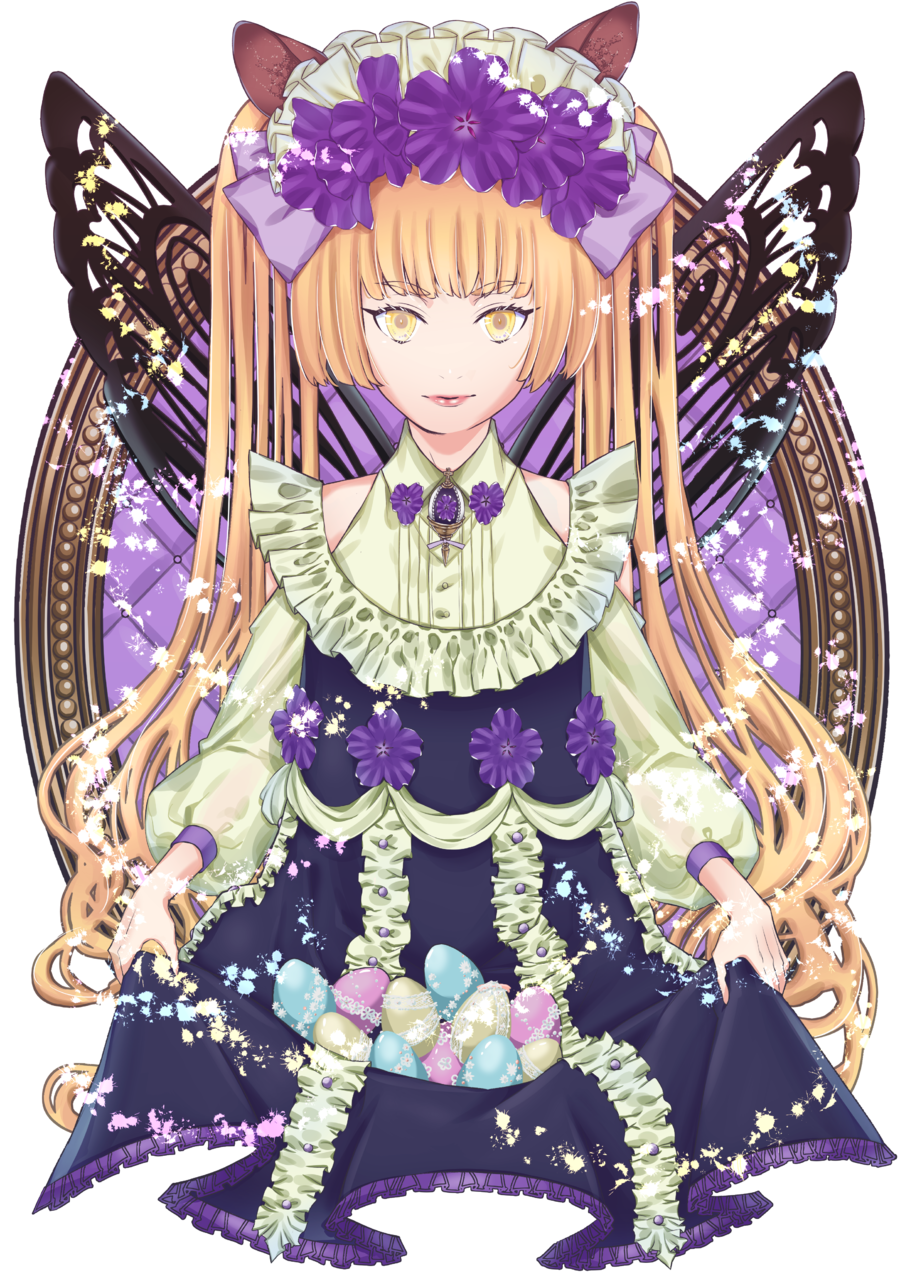 Illust of ぐら March.2020Contest:Easter blonde twin_ponytails girl