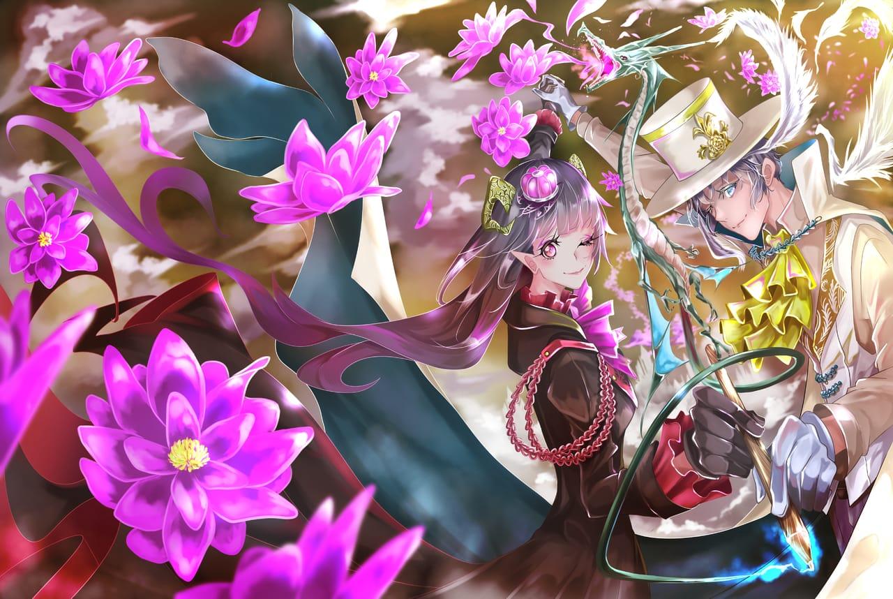描楽舞い (かぐらまい) Illust of オニコロシ/生き方/帰り路 ART_street_Illustration_Book_Contest original angel oc demon flower