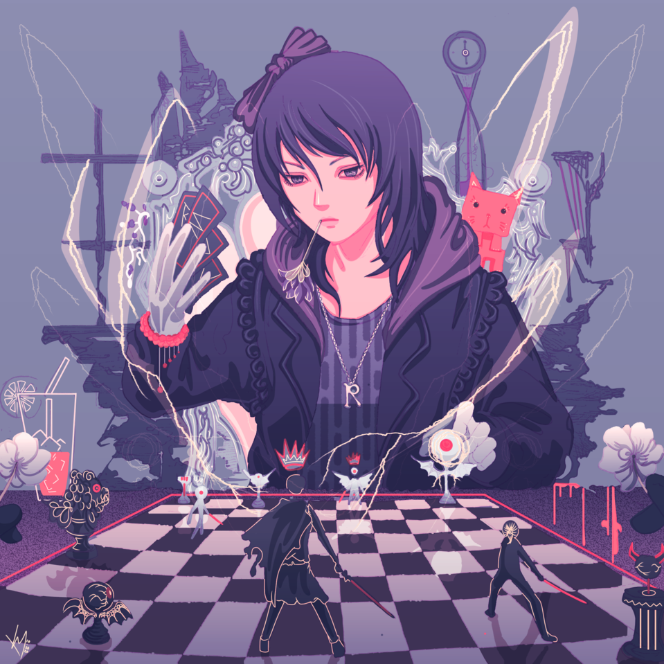 Hail to the Game Illust of K Y animegirl illustration Board To game Hail The
