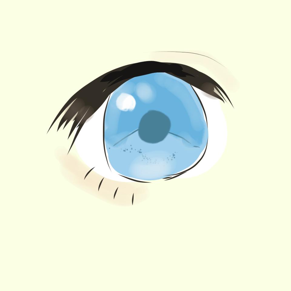 ビビさんの描きチャレ Illust of 柚鬼 水色 girl ビビさん digital メディバンペイント illustration eyes medibangpaint