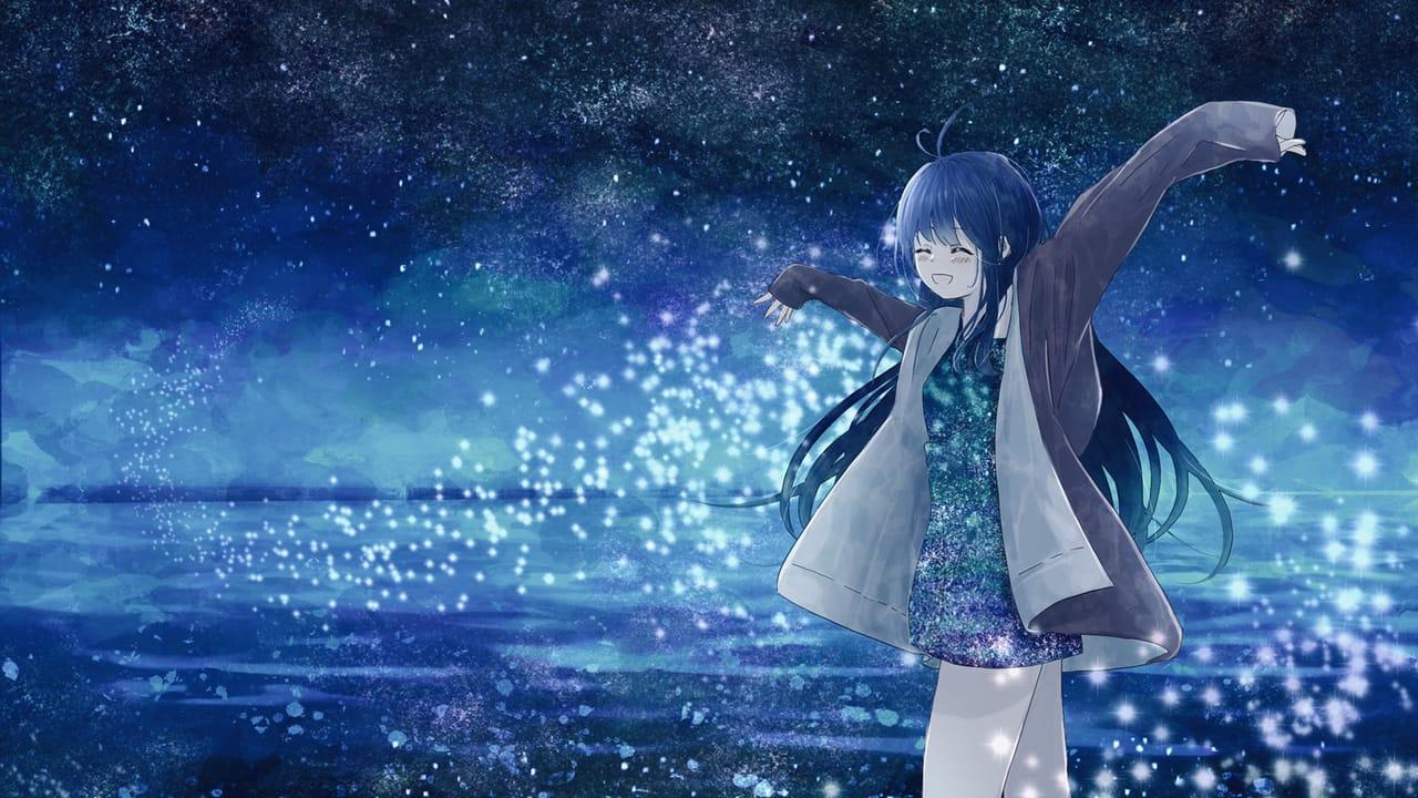 幻想風景 Illust of 熊谷のの fantasy February2021_Fantasy girl background starry_sky blue scenery smile