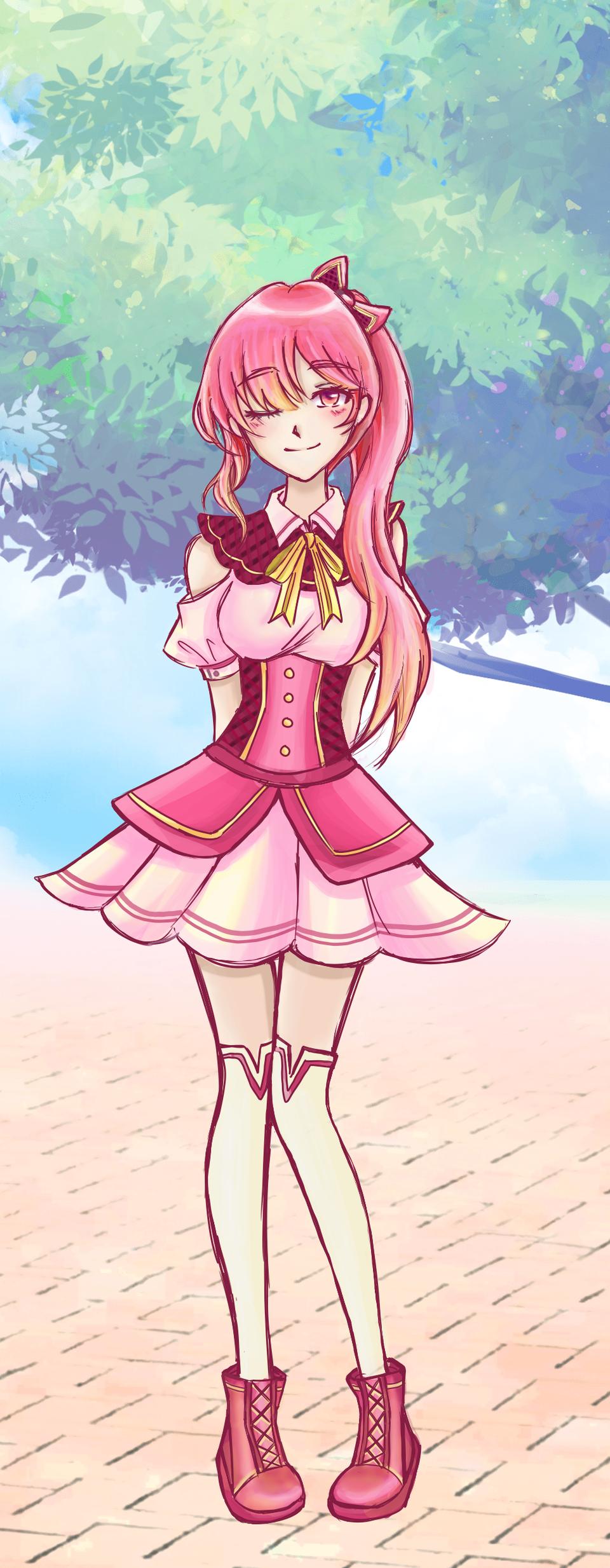 第一次创作人物🥰 Illust of CH.YiNg~ [小鱼] PASTEL_SKETCH2020 oc girl 粉红色 pink