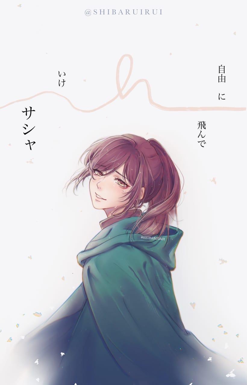 Sasha Braus Attack on Titan 進撃の巨人 Illust of shibaruirui animegirl anime Sasha AttackonTitan