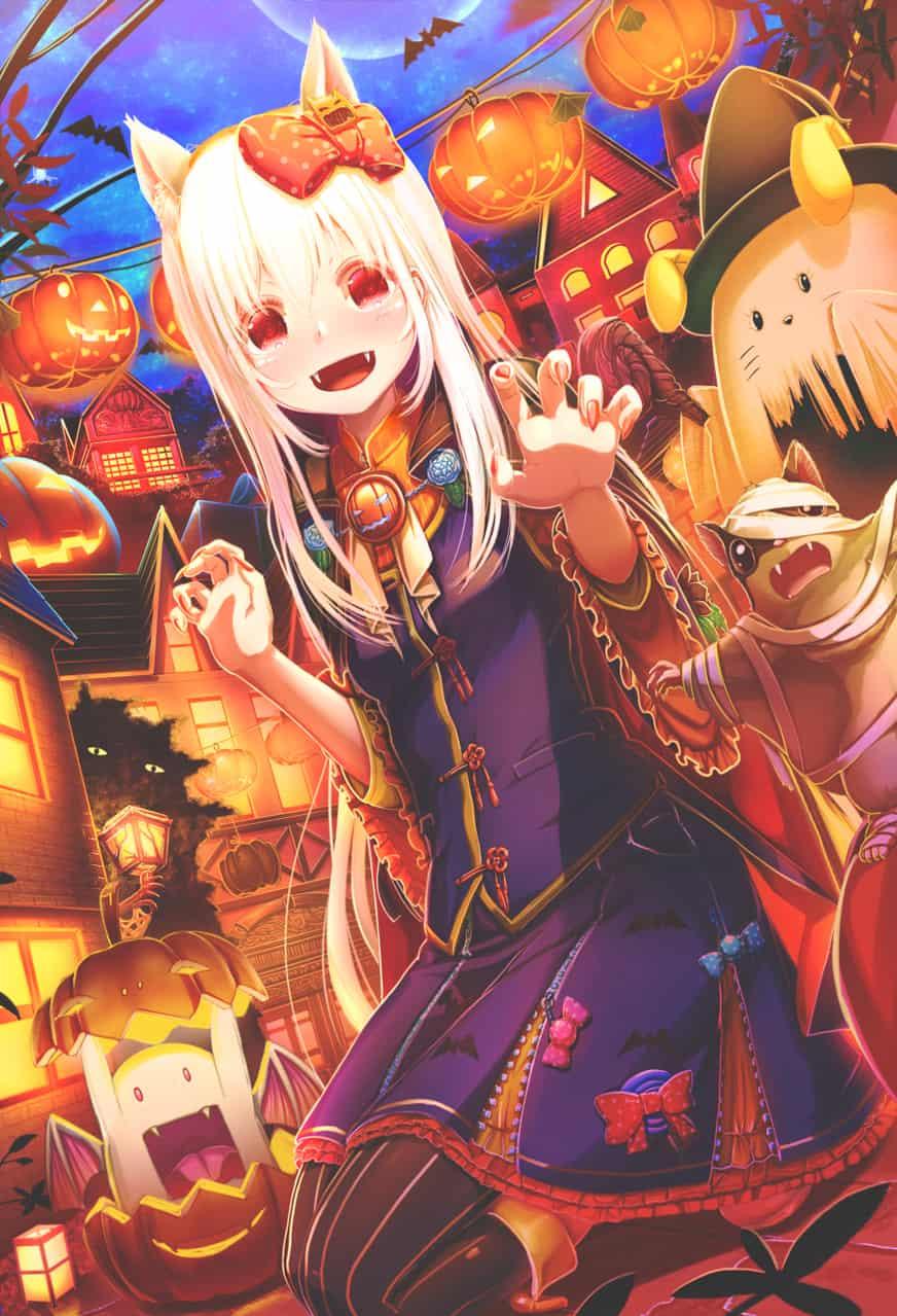 魔界を巡るお菓子獲得ツアー Illust of あいうあぼ Oct.2019Contest コスプレ animal Halloween 獣耳 girl original