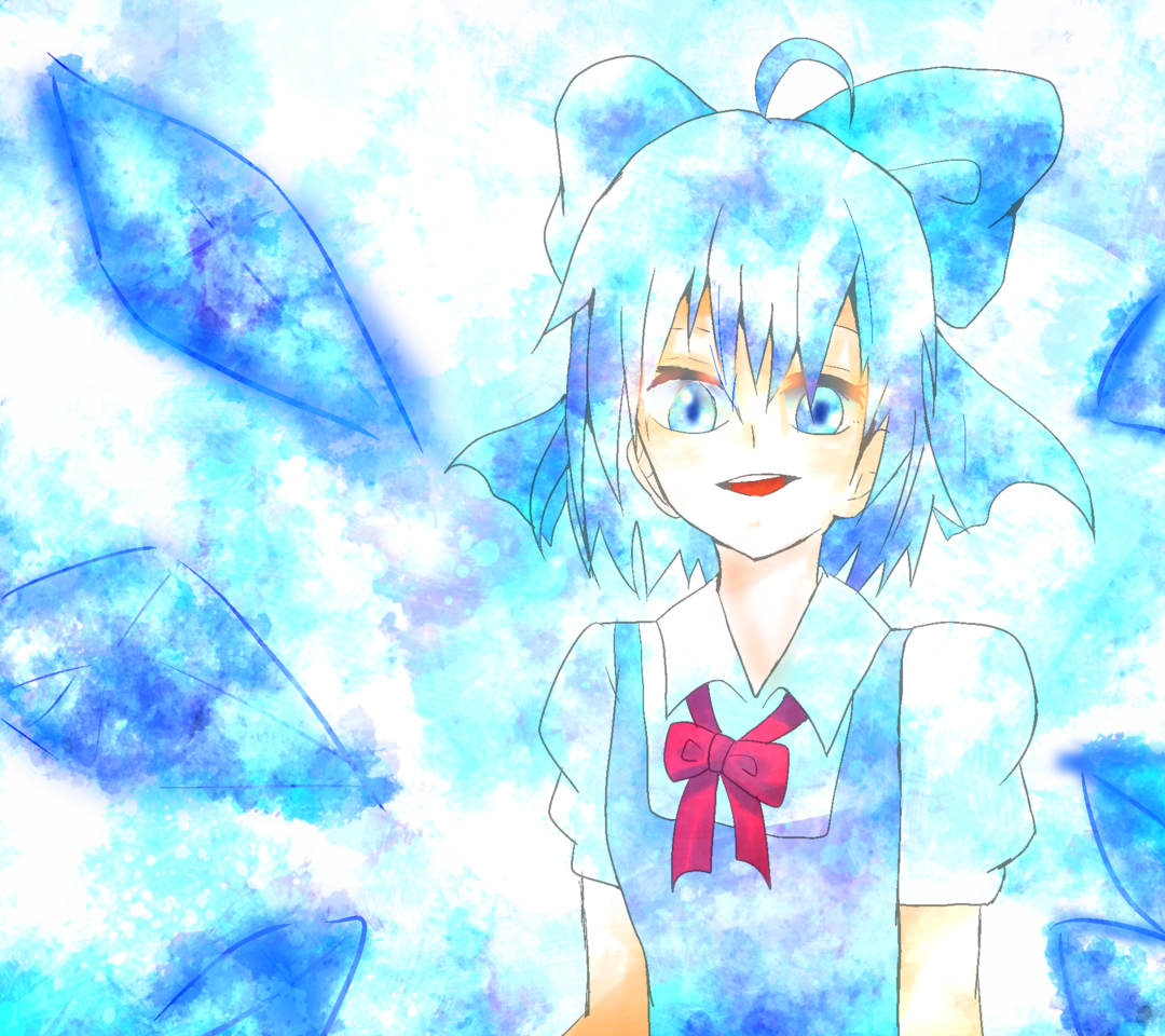 ガチルノ Illust of お茶湯 小6 ice girl 東方紅魔郷 チルノ original Touhou_Project