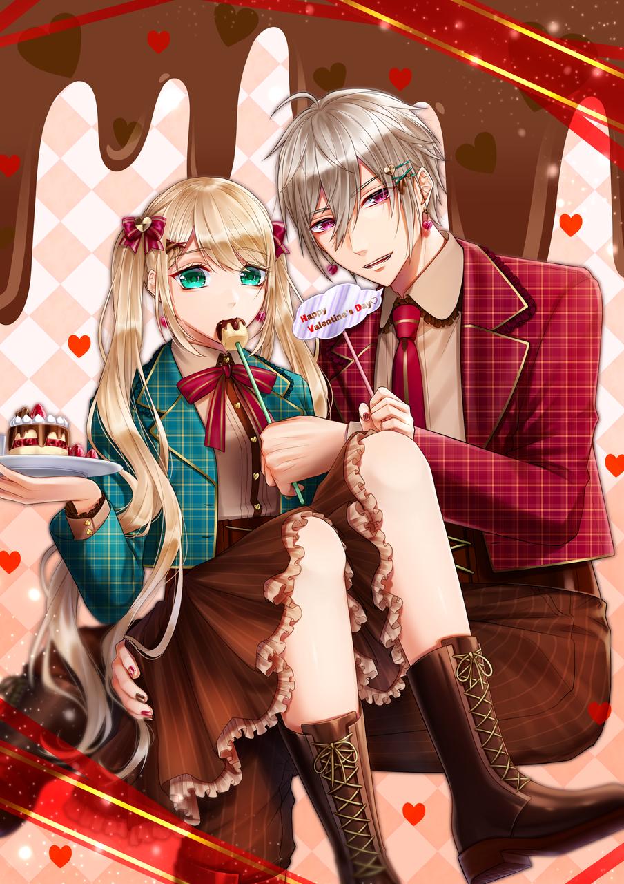 HappyValentine'sDay♡ Illust of いち Feb2020:VDAY Valentine oc 創作男女