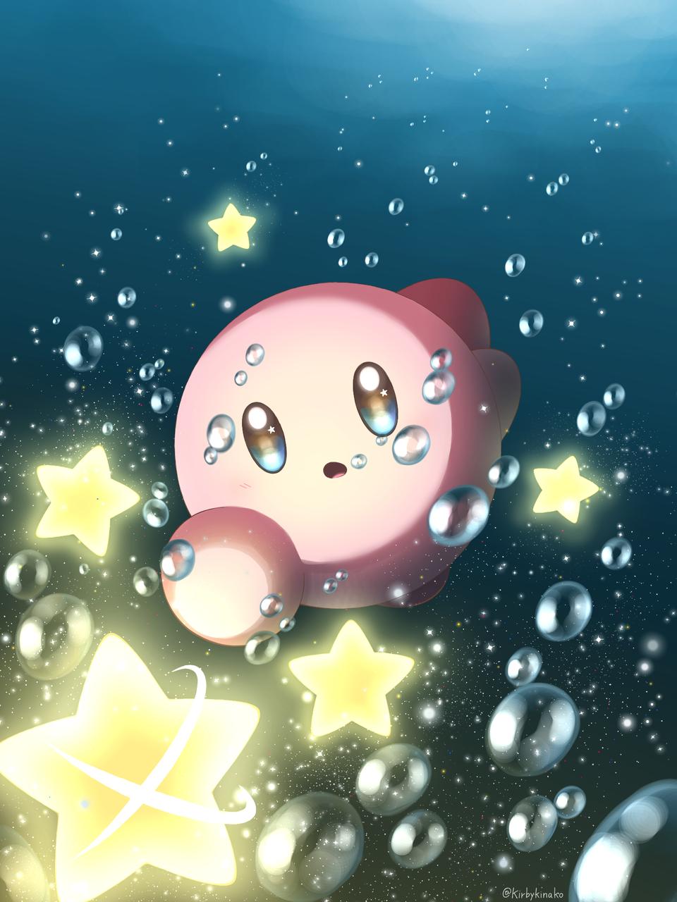 深海の一番星 Illust of かーこ medibangpaint Kirby'sDreamLand 深海 Kirby