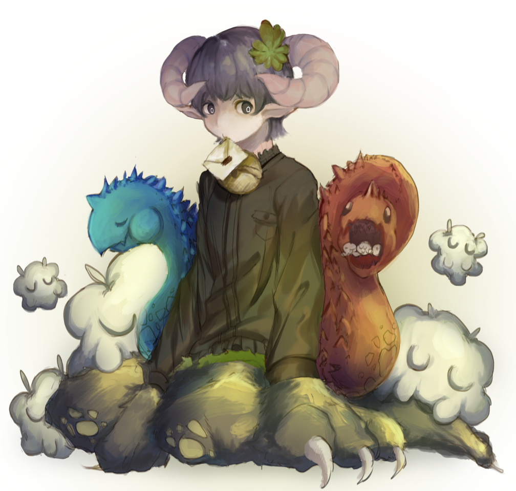 双頭フカフカ獣 Illust of 哀しみのCraft ARTstreet_Ranking boy character characterdesign original
