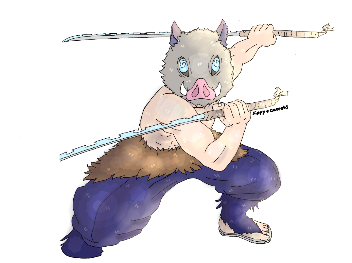 2nd best boy Inosuke Illust of Sippy medibangpaint
