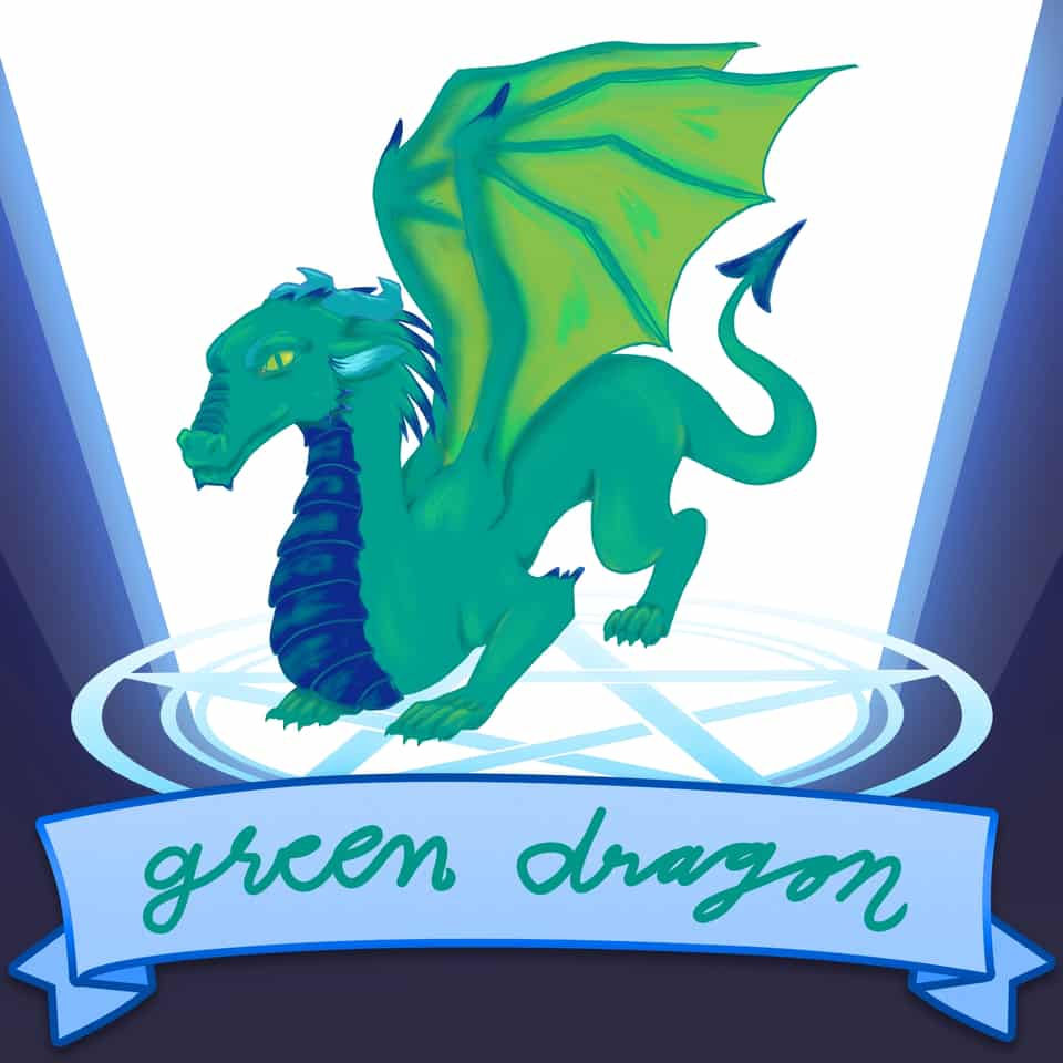 Green dragon Illust of RoniJake sobaditsgood2 SoBadItsGood sobaditsgoodround2