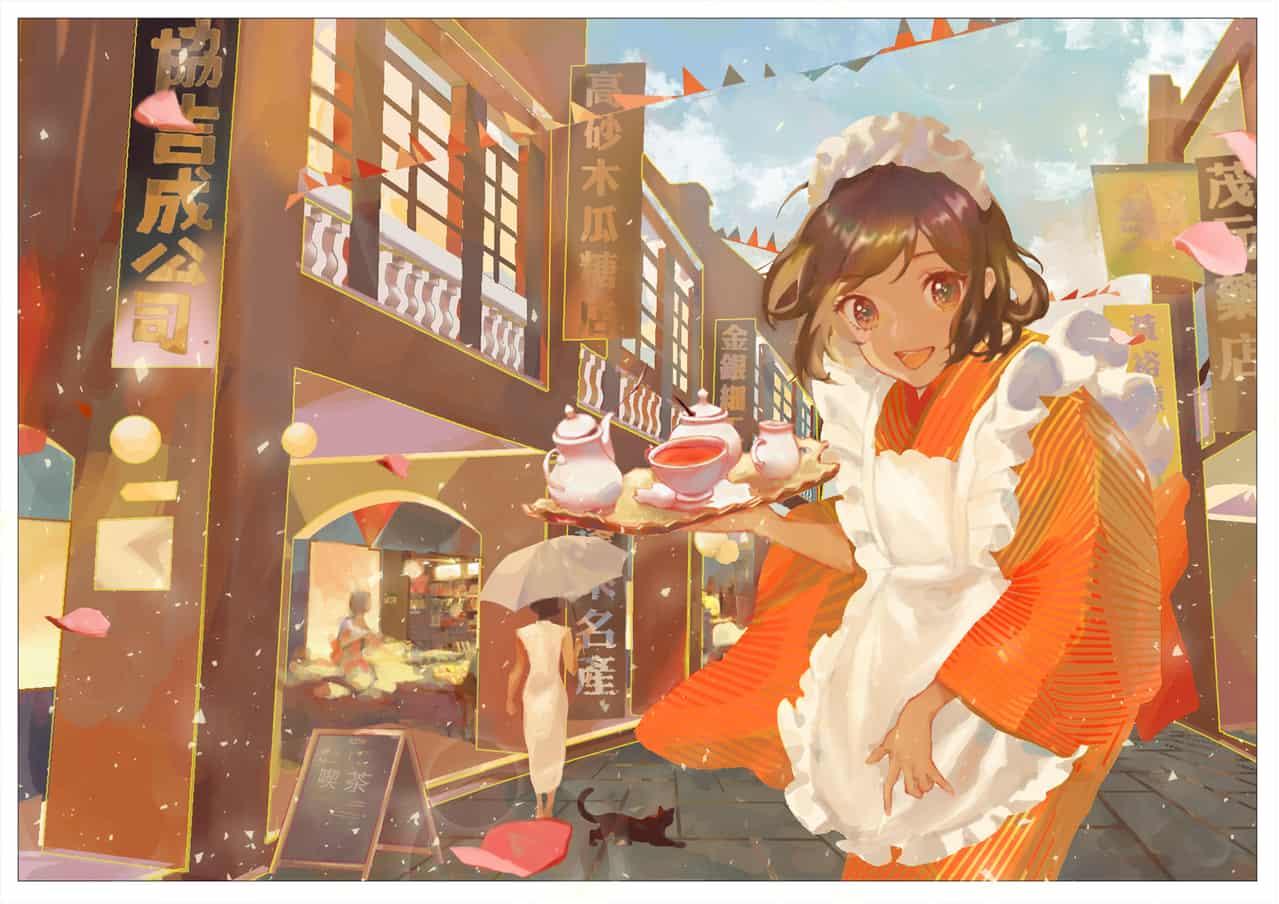 ( *´◒`*) Illust of 森森慵懶 impasto kawaii girl art illustration watercolor fanart oc sketch drawing