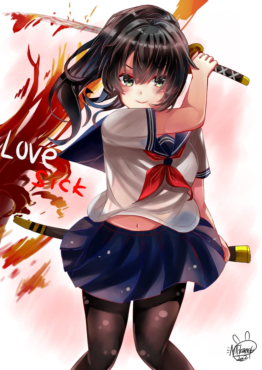あやの あし love sick  Illust of NIFKaneki art YandereSimulatorFanArtContest ayano ayanoashi yanderechan
