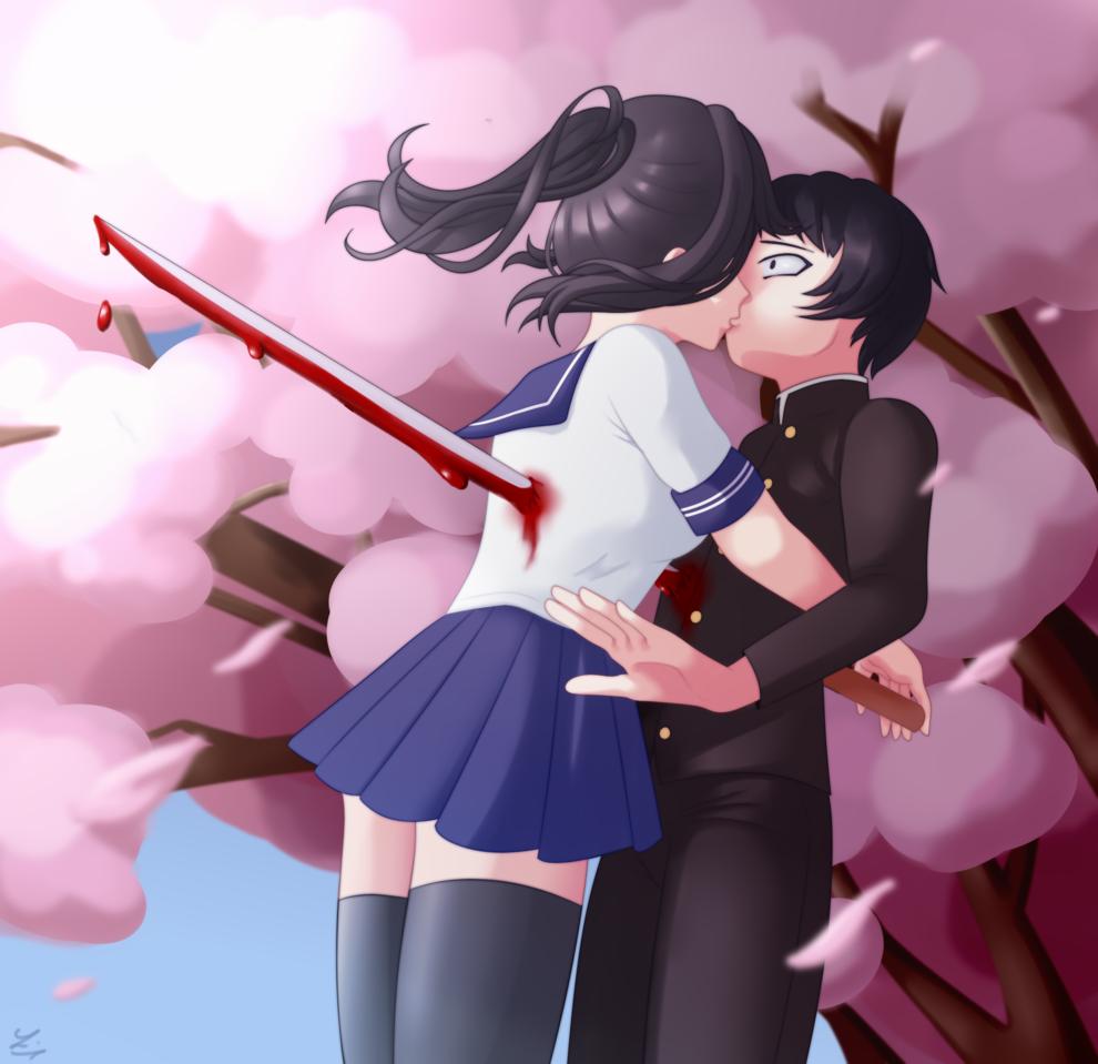 Yandere Simulator - Love in Death Illust of Lucariaura YandereSimulatorFanArtContest animegirl Yandere yanderechan ayano Artwork contest ayanoaishi senpai yanderesimulator