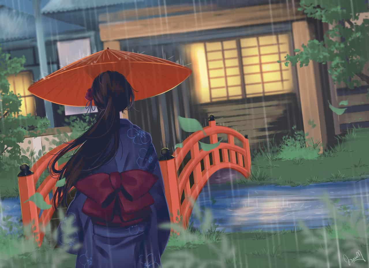 A rainy day in Kyoto