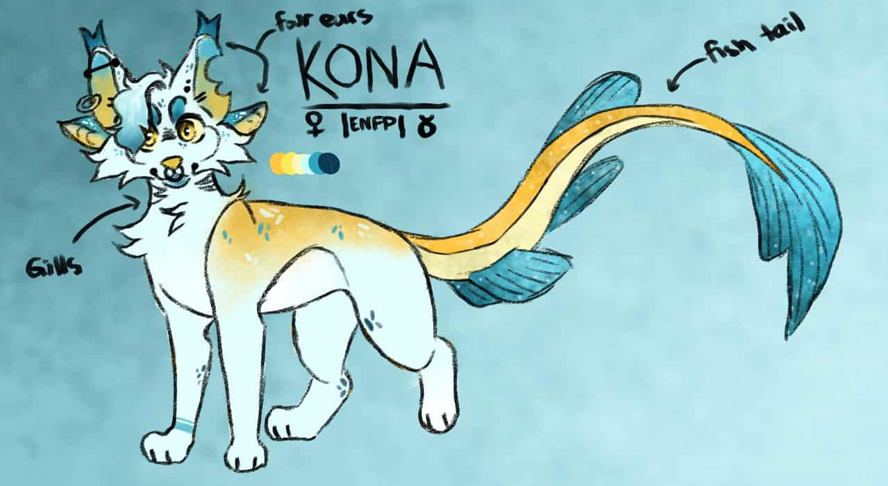 Kona Reference Illust of D E A D ACCOUNT