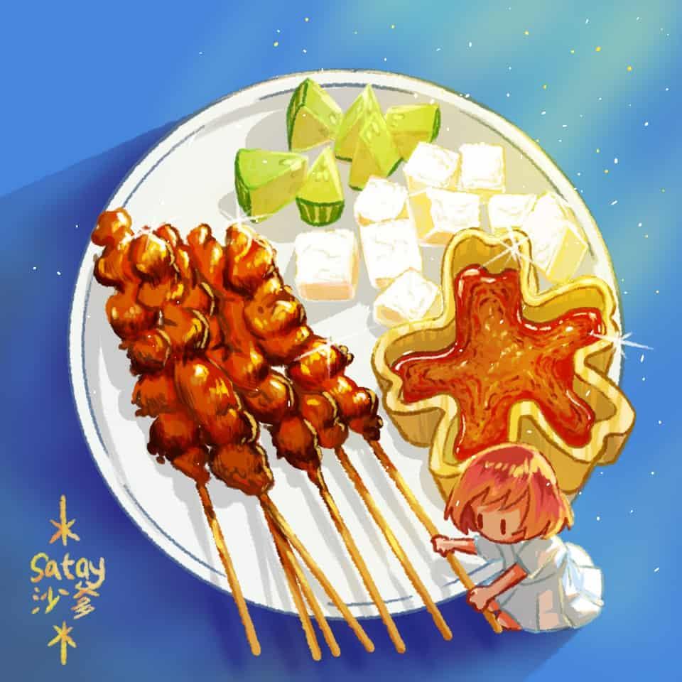 マレーシアの食べ物 #7 Illust of xiin_ruu_ October2020_Contest:Food art girl Malaysia original illustration food oc