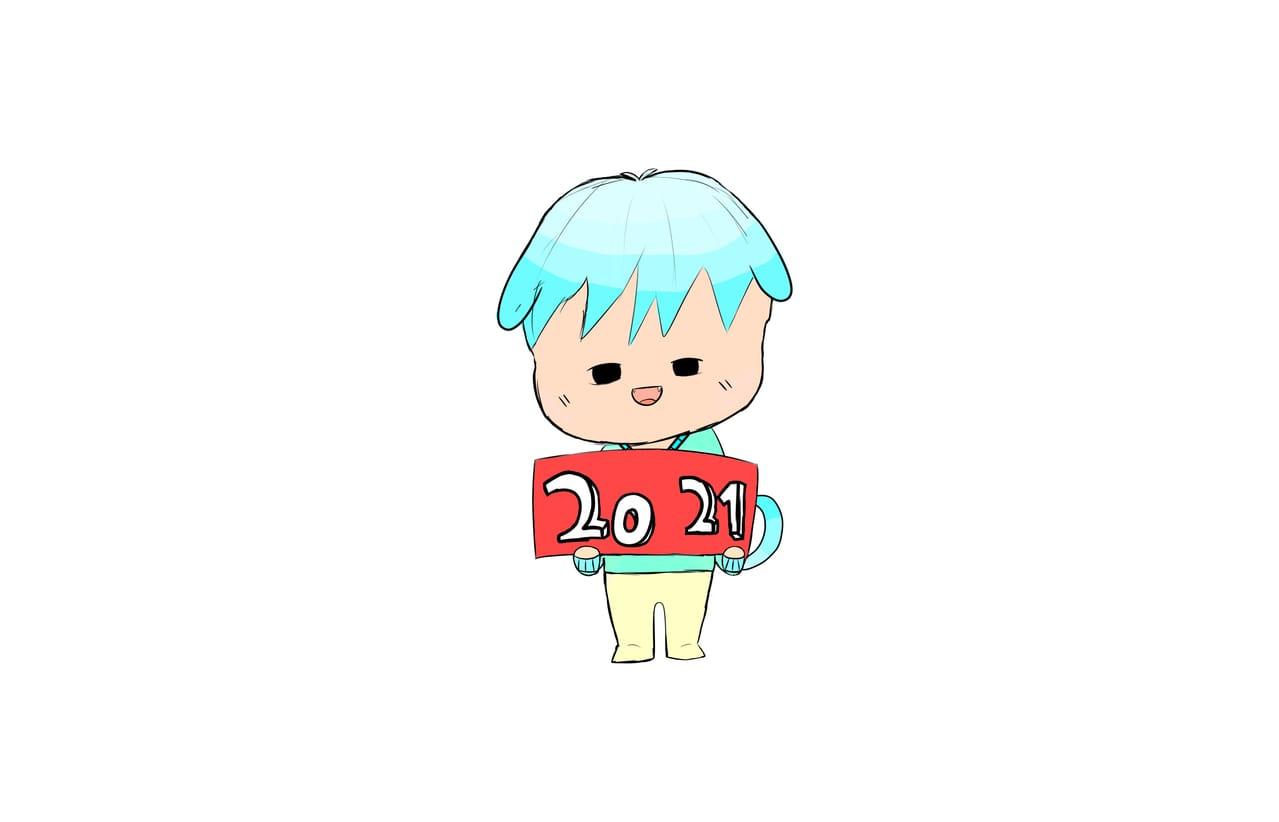 새해 복 많이 받으세용 Illust of 쉬는중인 슌율이에 수면안대 6호 우주멍뭉이❤