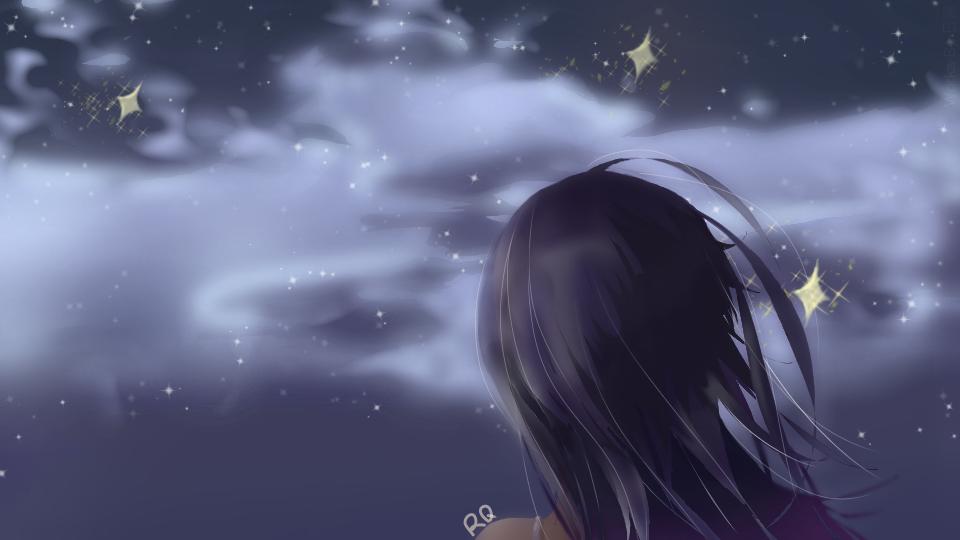 星空 Illust of 谭日青 medibangpaint lazy 夜空