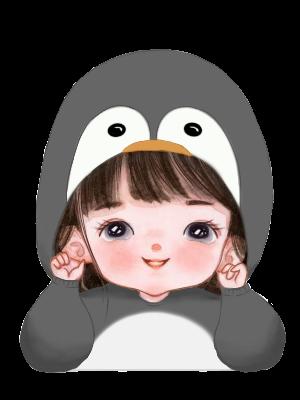 Little Penguin Girl Illust of RoWeird Penguin girl hoodie