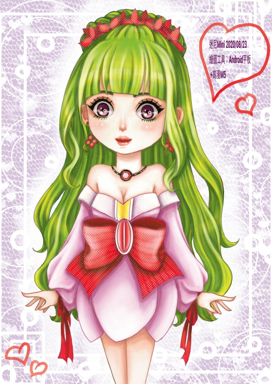 圖:2020/08/23隨意畫^^   Illust of cchenju(迷尼Mini) MyIdealWaifu MyIdealWaifu_MyIdealHusbandoContest illustration painting 畫畫 蘿莉 original girl 電繪 cute