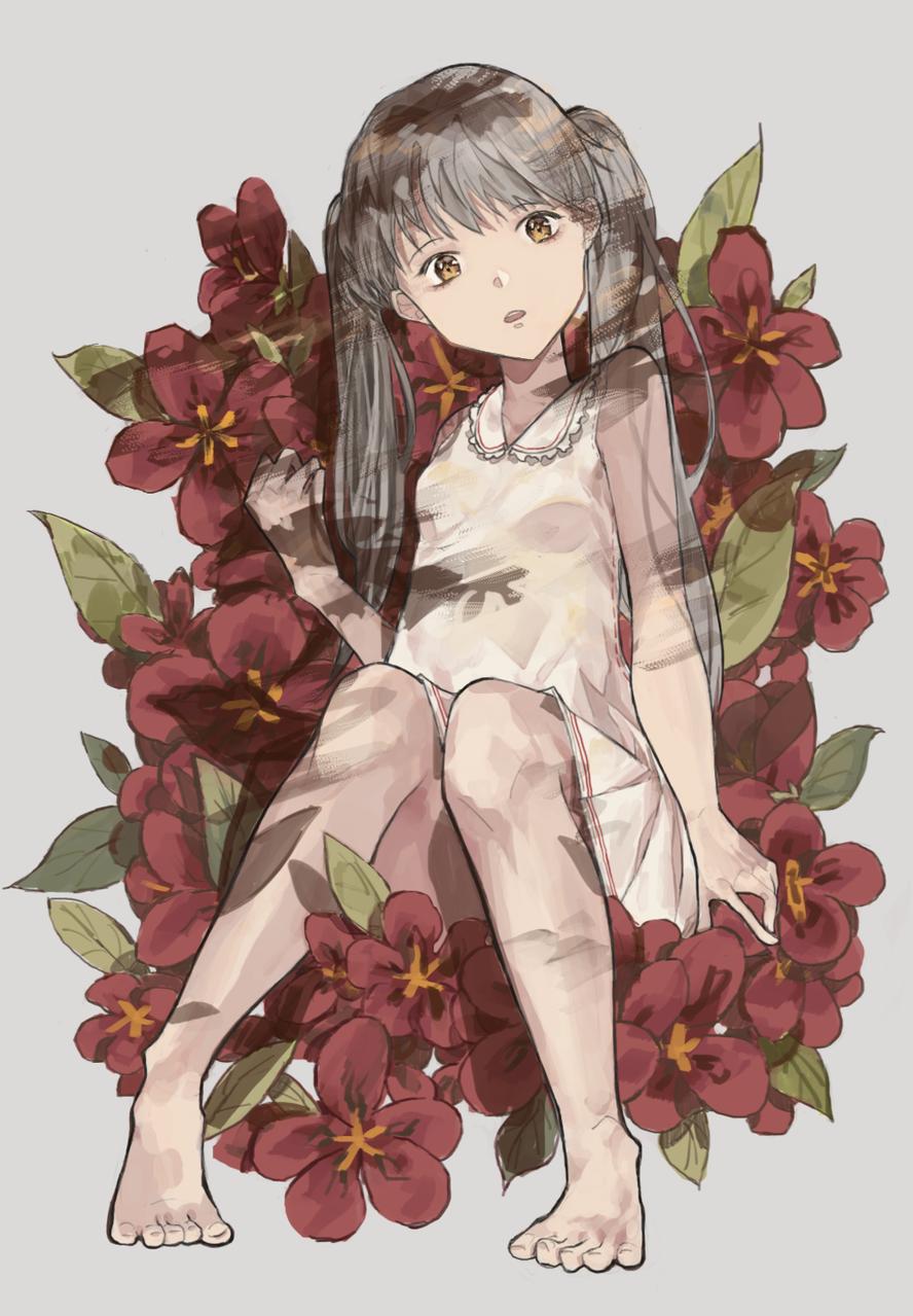 花 Illust of Yu Chuang Feb2020:VDAY girl flower