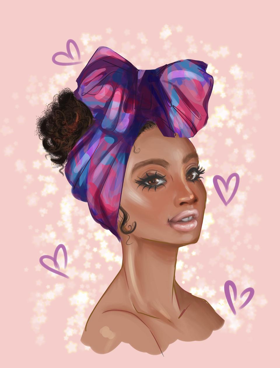 turban Illust of pattachan Original_Illustration_Contest oc#myart#digitalart