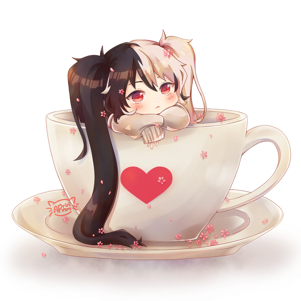Cute Coffee~ Illust of Apririnn (Onigiri) ARTstreet_Ranking chibi twin_ponytails oc cute girl Coffee medibangpaint