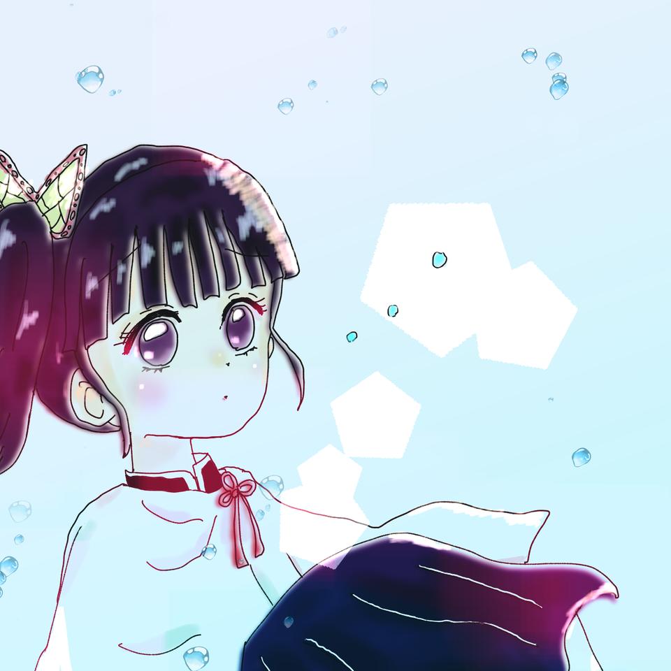 カナヲ。٩( 'ω' )وとおまけ Illust of ねむこ doodle TsuyuriKanao girl 女の子落書き キラキラ おんなのこ fanart KimetsunoYaiba 真面目 kawaii
