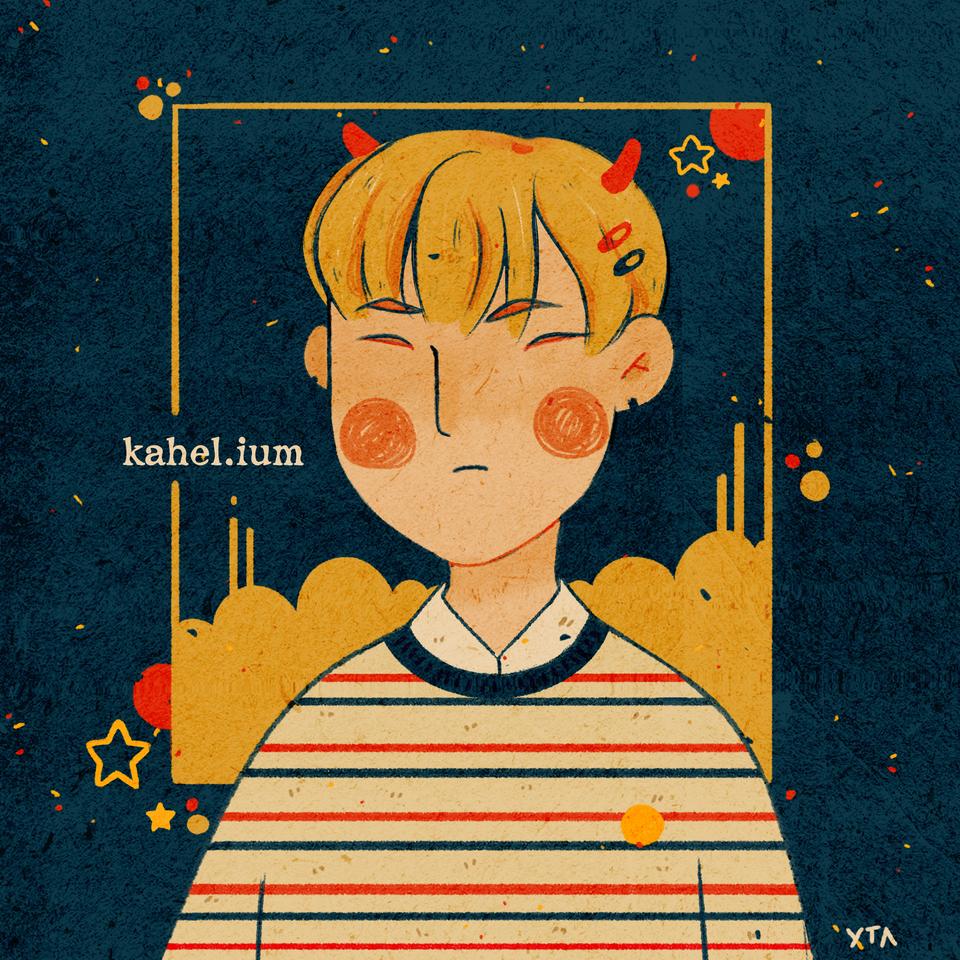 Lil Devil Illust of Kahelium iPad_raffle medibangpaint devil