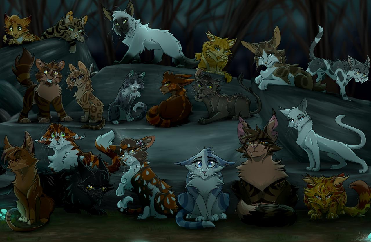 Dark Forest Trainees WC Illust of rivstars medibangpaint cat warriorcats art