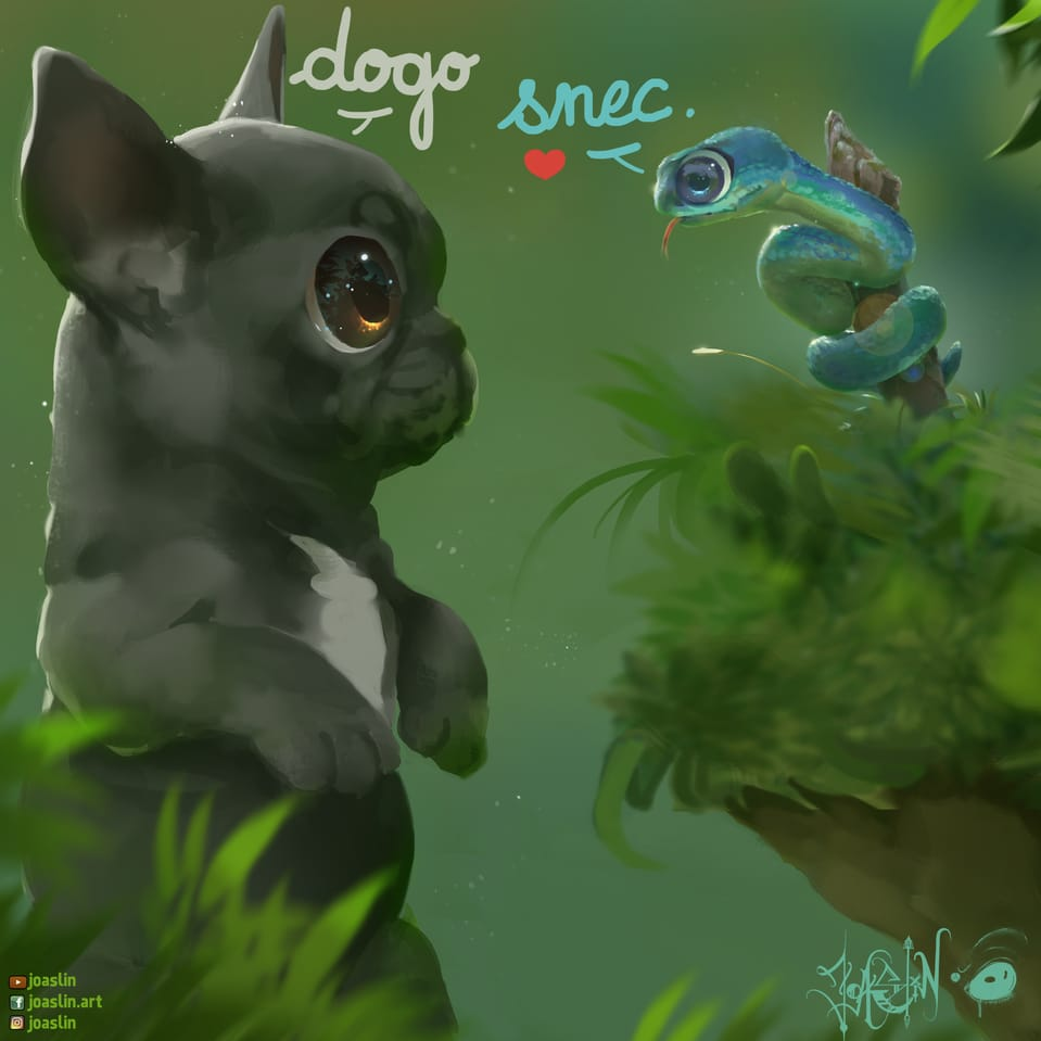 Puppies  Illust of JoAsLiN art puppies animal kawaii digital original dog eyes oc cute