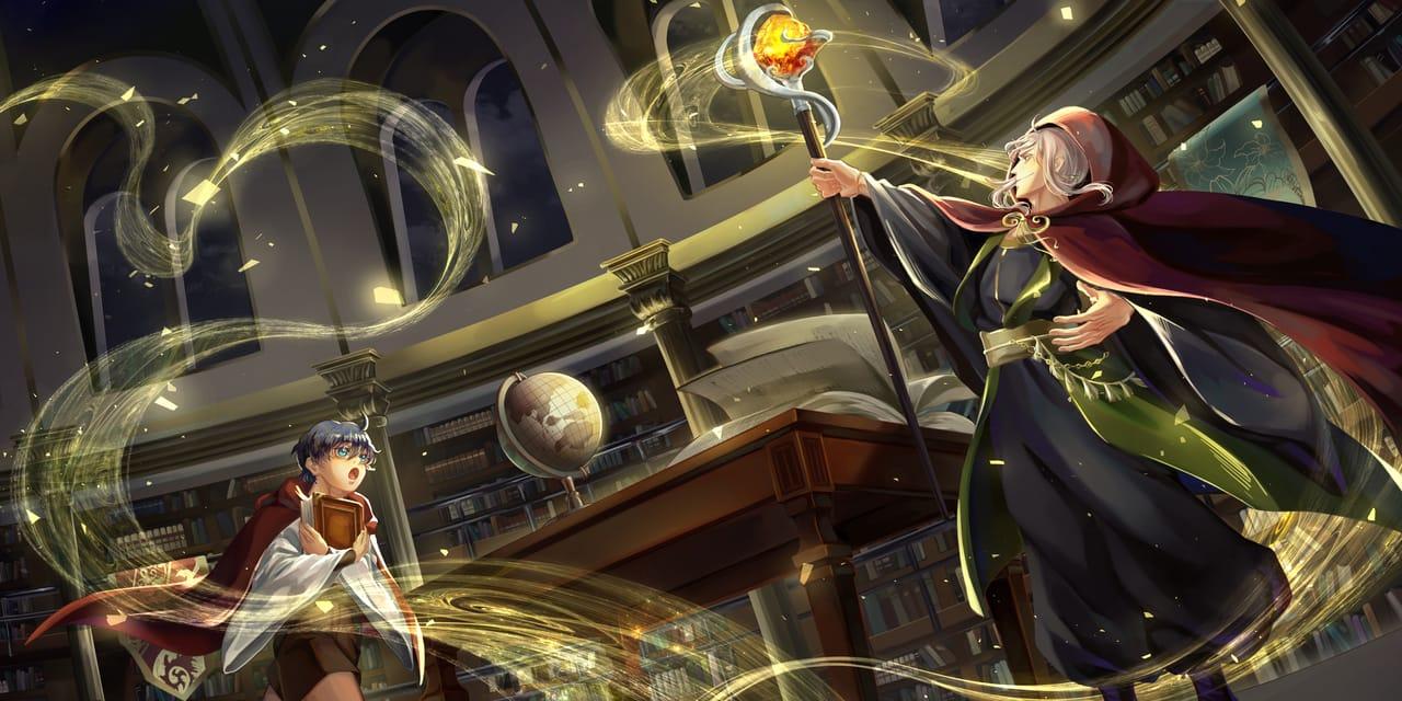 The Magician Illust of Yue Rong February2021_Fantasy boy illustration 魔法使い original