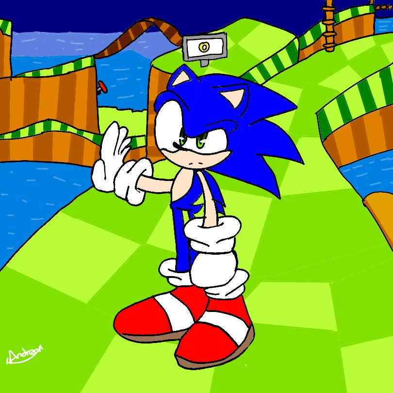 Sonic (FanArt) Illust of AndreaTheCat medibangpaint Sonic fanart