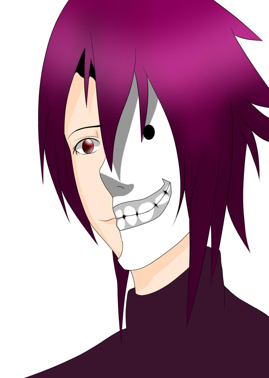 Mask two face Illust of Den Daiichi mask anime manga