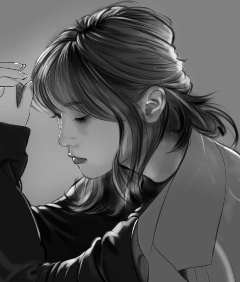 『桃月なしこさん』 Illust of てらりん イラストレーション 似顔絵 桃月なしこ モデル illustration なしこたそ グラビアアイドル