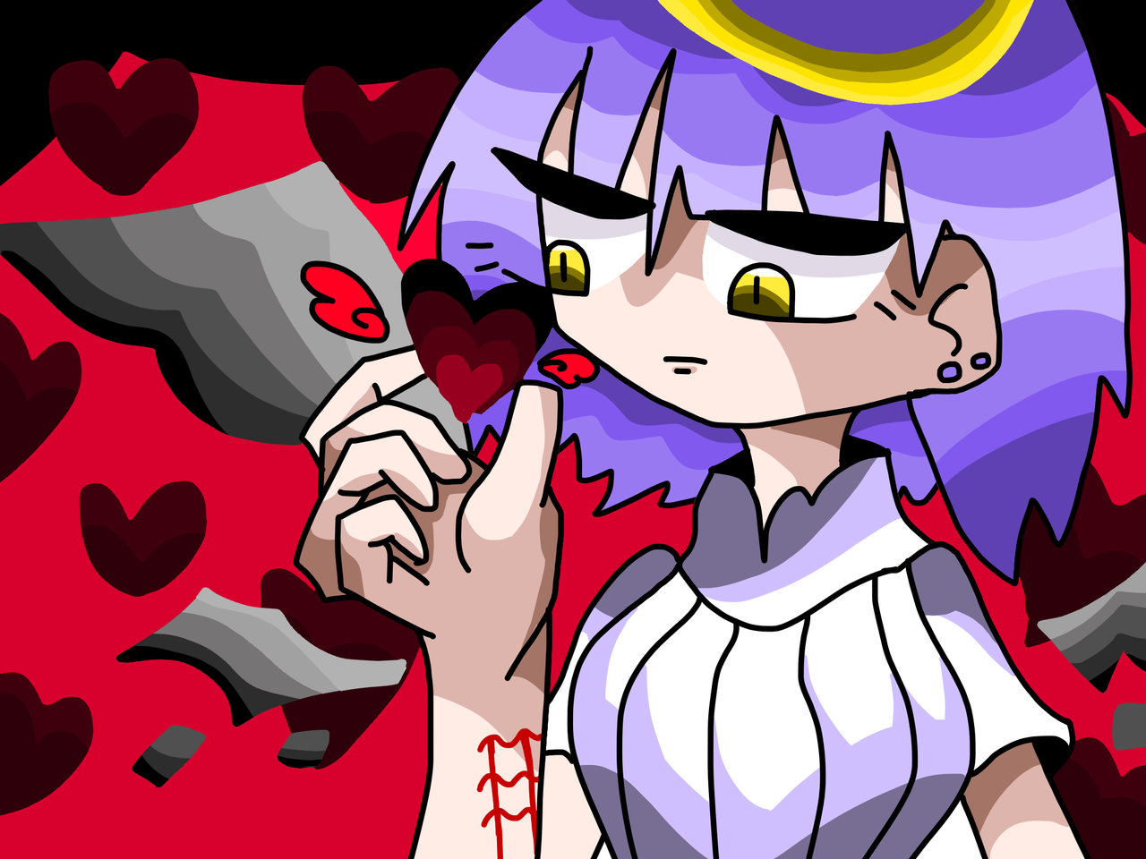 rkgk Illust of 🥩𝕋𝕚𝕦🥩 ハート angel medibangpaint original red