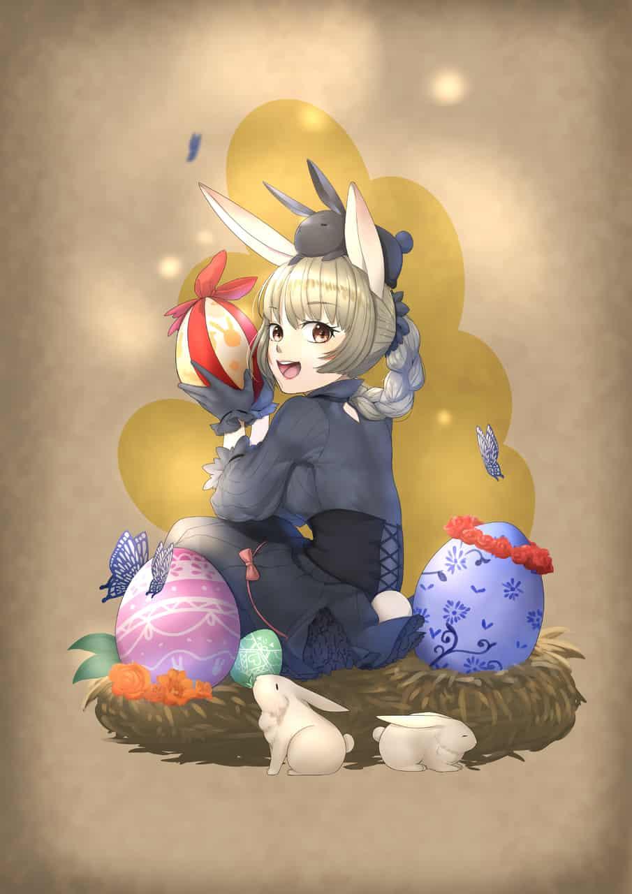 イースター Illust of caro March.2020Contest:Easter original girl rabbit